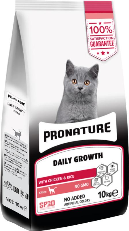 pronature daily growth kitten - Thức ăn hạt cho mèo con từ 3 tuần đến 12 tháng tuổi- bao 1,5 KGS và 10 kgs