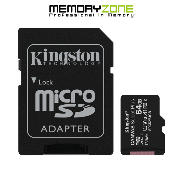 Thẻ Nhớ MicroSDXC Kingston Canvas Select Plus 64GB Class 10 U1 100MB/s SDCS2/64GB
