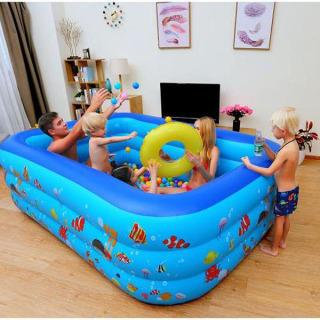 Bể bơi cho bé trong nhà 3 tầng 2m1 hình chữ nhật thumbnail