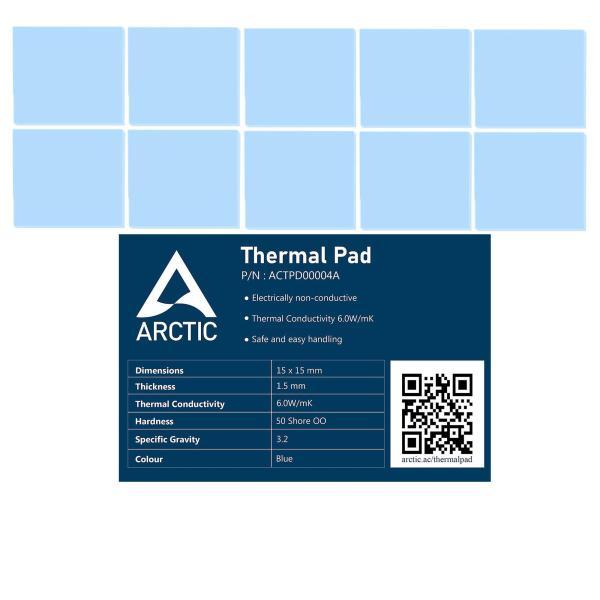Combo 10 Miếng dán tản nhiệt Arctic Thermal Pad 15mm x 15mm x 1.5mm