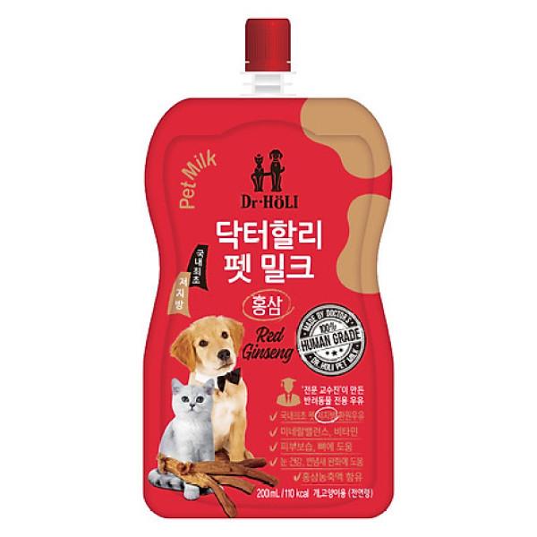 Sữa nước cho chó mèo tăng sức đề kháng Dr. Holi Pet Milk Red Ginseng 200ml