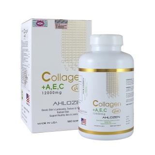 Collagen A E C 12000mg Ahlozen Gold Hộp 180 viên Đẹp da, Ngừa lão hóa thumbnail
