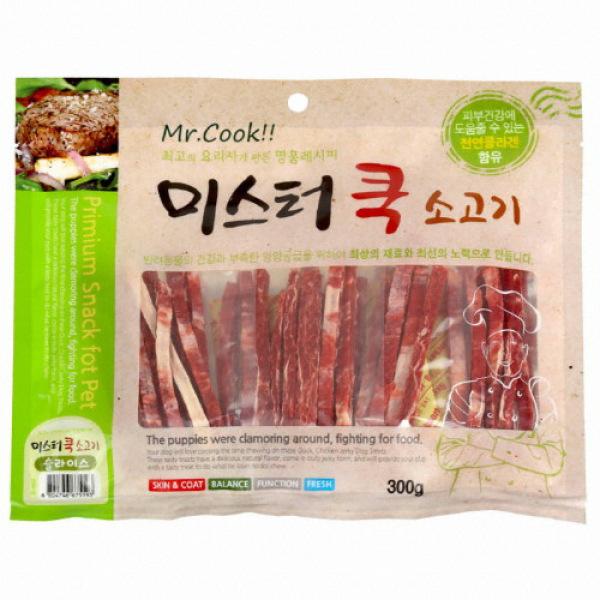 Snack thưởng thịt bò sấy khô cho chó - Beef Jerky (Mr.Cook - Made in Korea) 300gr