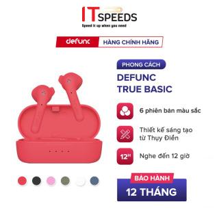 Tai Nghe True Wireless Defunc True Basic, Bluetooth 5.0, Cảm Ứng, Kháng Nước IPX4, Nghe Đến 12H - Chính Hãng BH 12 Tháng thumbnail