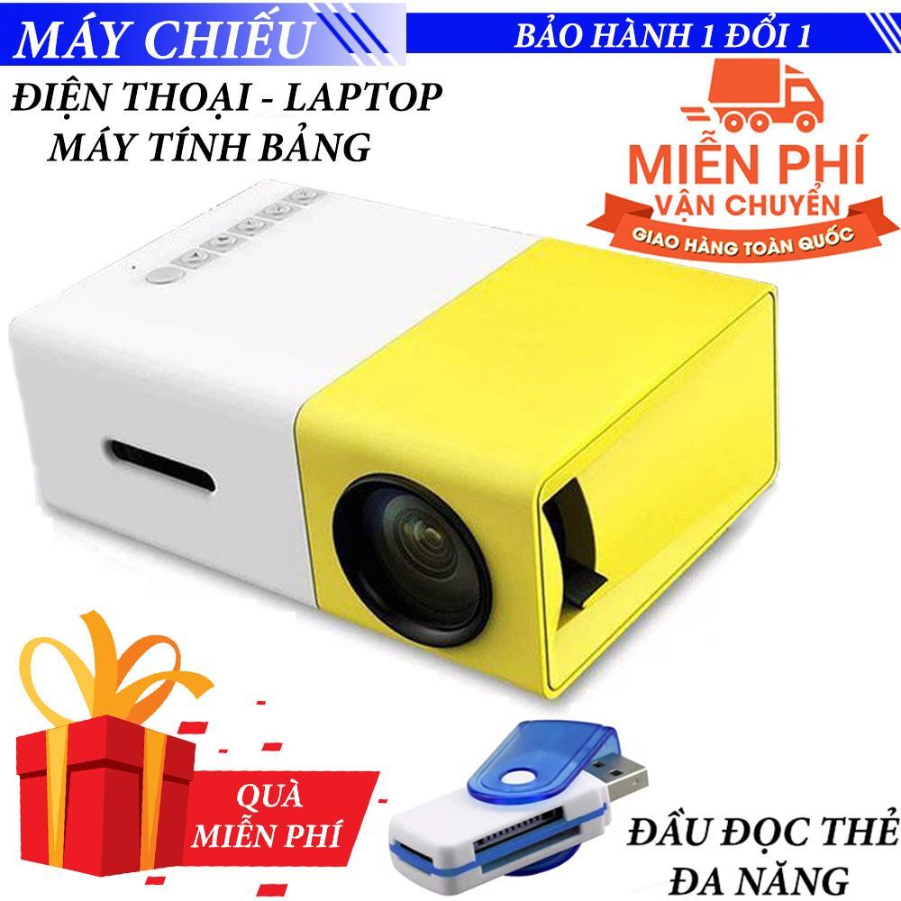 Máy chiếu Mini cho điện thoại laptop YG-300 hỗ trợ độ phân giải lên đến 1920 x 1080 pixel