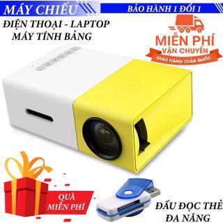 Máy chiếu phim Mini cho điện thoại laptop YG-300 hỗ trợ độ phân giải lên đến 1920 x 1080 pixel - Có thể lựa chọn thêm Tripod Ulanzi gắn chân máy cao cấp Hoặc Kèm Sạc Dự Phòng 20.000 mAh cấp nguồn cho máy chiếu thumbnail