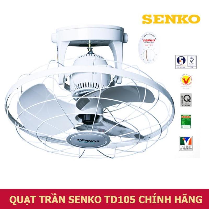 Quạt trần đảo SenKo TD105 - 3 tốc gió, Toàn bộ quạt được làm từ nhựa cao cấp, có 3 cánh quạt , sải cánh 40cm tạo sức gió mạnh.(N005)
