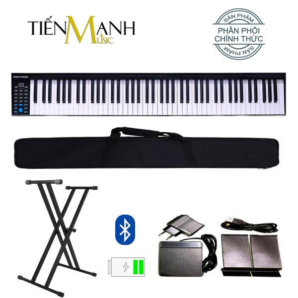 Đàn Piano Điện Konix PH88 - Đàn, Chân, Bao, Nguồn 88 Phím nặng Cảm ứng lực PH-88 - Midi Keyboard Controllers - (Tăng giảm tone Transpose, Kết nối Bluetooth, Pin sạc 1100mAh - Phần mềm và Hướng dẫn Tiếng Việt)