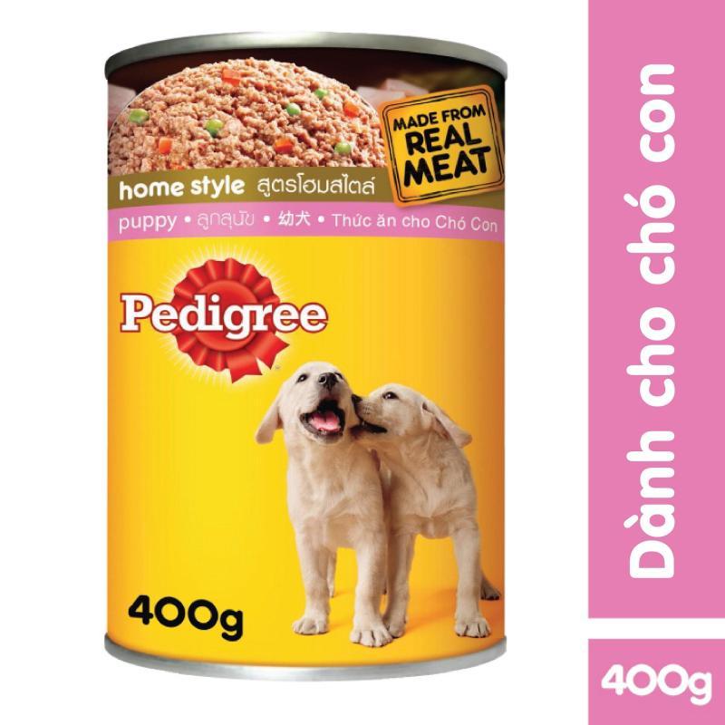Thức ăn dạng pate cho chó con Pedigree vị bò lon 400g