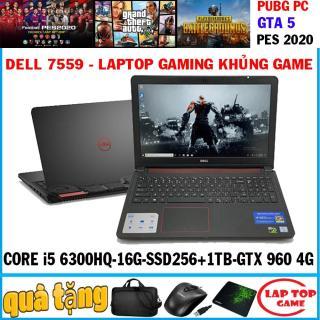 laptop gaming Dell 7559 - khủng game Core i5 6300HQ,ram 16g, ssd 256+ hdd 1tb, VGA GTX 960 4GB, 15.6 inch FHD 1920 1080 thumbnail
