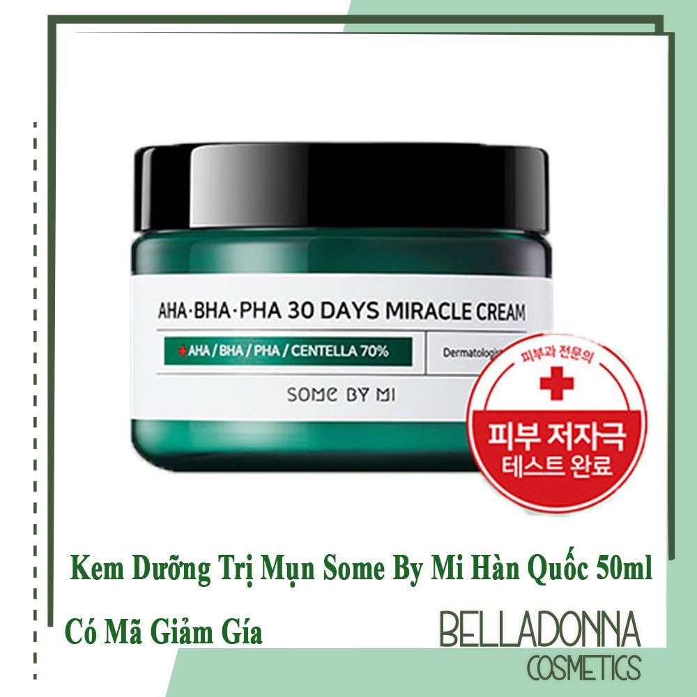 [Có Mã Giảm Giá]Kem Dưỡng Trị Mụn Some By Mi AHA-BHA-PHA 30 Days Miracle Cream 50ml