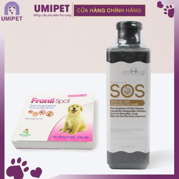 Combo trị ve rận cho Chó Mèo UMIPET