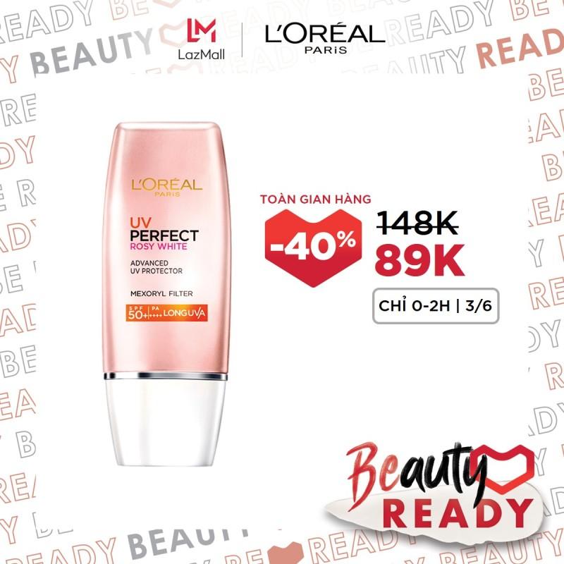 Kem chống nắng bảo vệ & dưỡng da trắng sáng tức thì LOréal UV Perfect Rosy/Instant White SPF50 PA ++++ 30ml giá rẻ