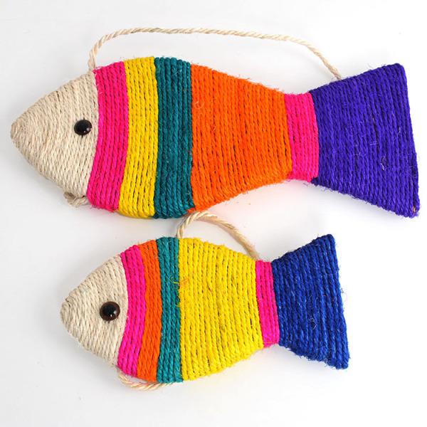 Bàn cào móng hình cá size bé cho mèo - Phụ kiện thú cưng