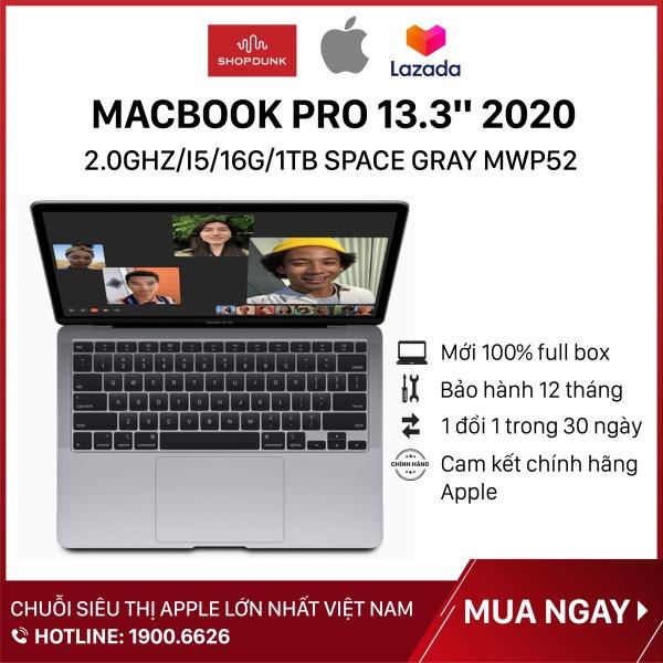 Bảng giá Laptop Macbook Pro 13 inch 2020 2.0GHz/i5/16G/1TB Space Gray MWP52, Hàng chính hãng Apple, mới 100%, nguyên seal Phong Vũ