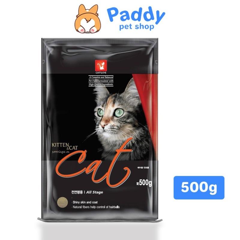 Thức Ăn Hạt Cho Mèo Cats Eye Kitten & Cat Túi 500g