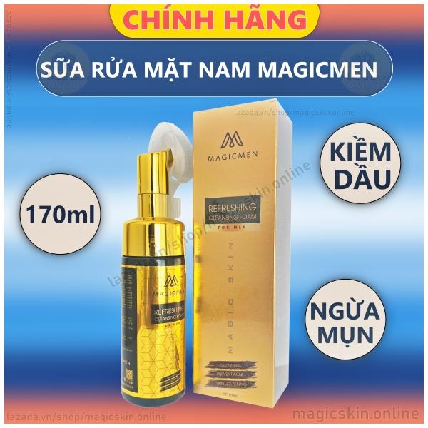 Sữa rửa mặt Sữa rửa mặt bọt Magic Skin cho NAM MagicMen Refreshing Cleansing Foam for MEN 👍 KIỀM DẦU, HƯƠNG THƠM NAM TÍNH Magic Skin cho NAM MagicMen Refreshing Cleansing Foam for MEN 👍 KIỀM DẦU, HƯƠNG THƠM NAM TÍNH giá rẻ