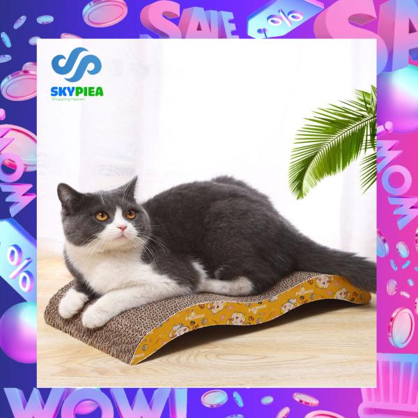 Bàn Cào Móng Cho Mèo Tặng Kèm Cỏ Catnip - Đồ Chơi Cho Mèo