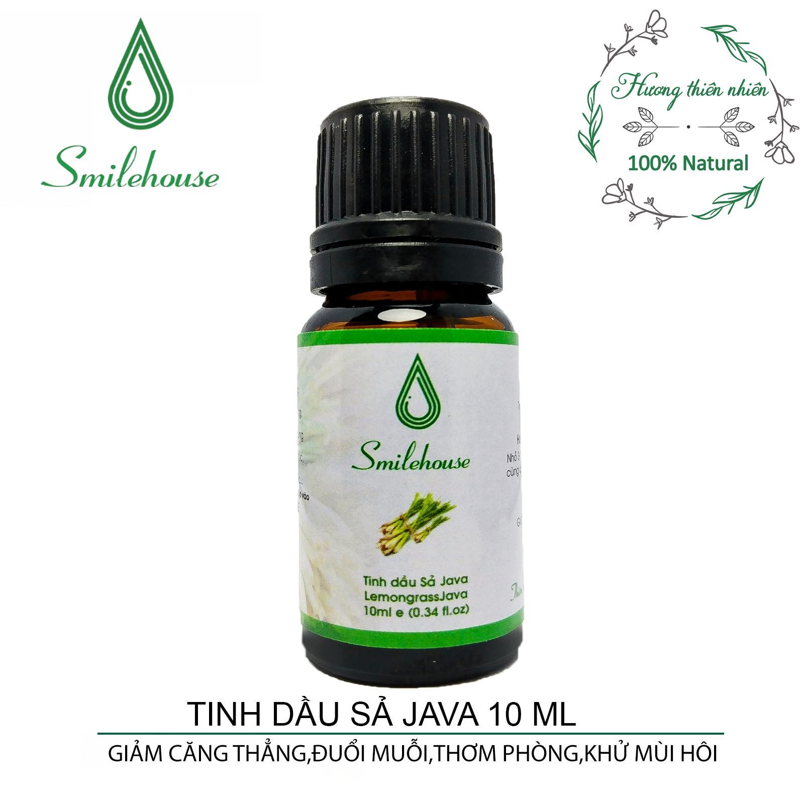 Tinh dầu Sả Java Smilehouse 10ml – thơm phòng, khử mùi hôi, giảm căng thẳng, xuôi đuổi côn trùng N tốt nhất