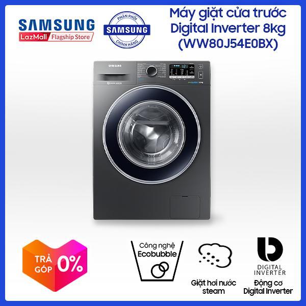 Máy giặt Samsung cửa trước Digital Inverter 8kg WW80J54E0BX (Xám) - Hãng phân phối chính thức, tiết kiệm điện