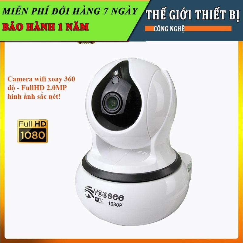 Camera ip wifi Yoosee xoay 360 độ trong nhà - fullhd 1080-2.0mpx hình ảnh cực nét, cảm biến chống trộm nhạy BH12T