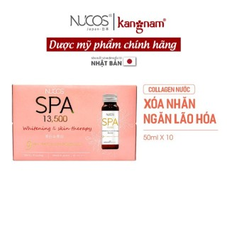 Collagen nước uống đẹp da Nucos spa 13500, nước uống collagen Nucos spa, xóa nhăn ngăn lão hóa da, giảm thâm nám, tàn nhang thumbnail