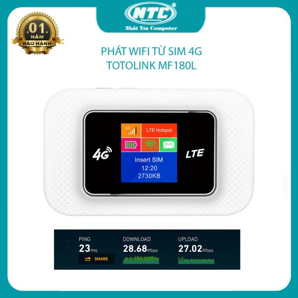 Bảng giá Phát wifi từ sim 4G Totolink MF180L mạnh mẽ - hỗ trợ  dùng nguồn trực tiếp không cần gắn pin (Trắng) - Nhất Tín Computer Phong Vũ