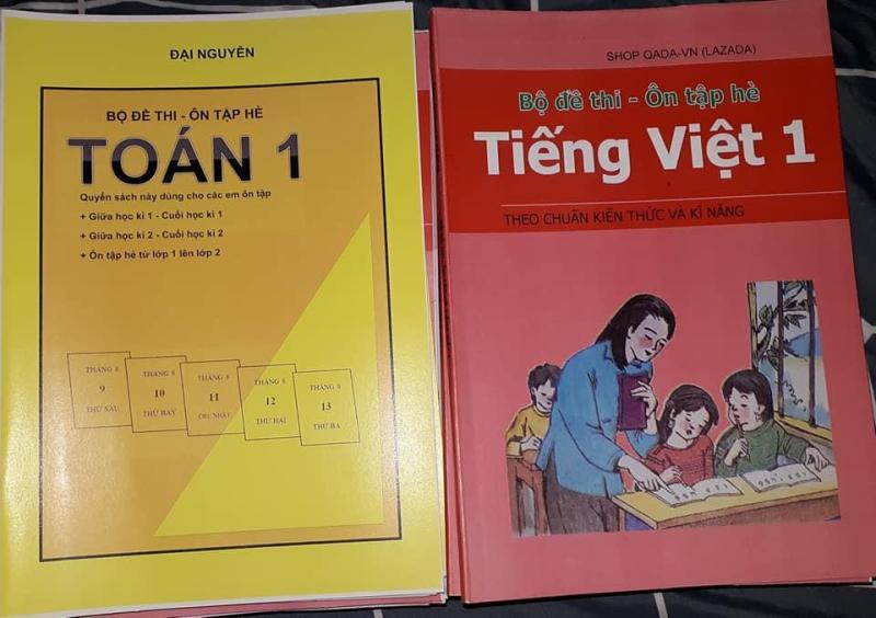 Mua Bộ đề thi môn toán lớp 1 + Tiếng Việt lớp 1 - thi giữa kì 1, cuối học kì 1, giữa kì 2, cuối học kì 2 - ôn tập hè