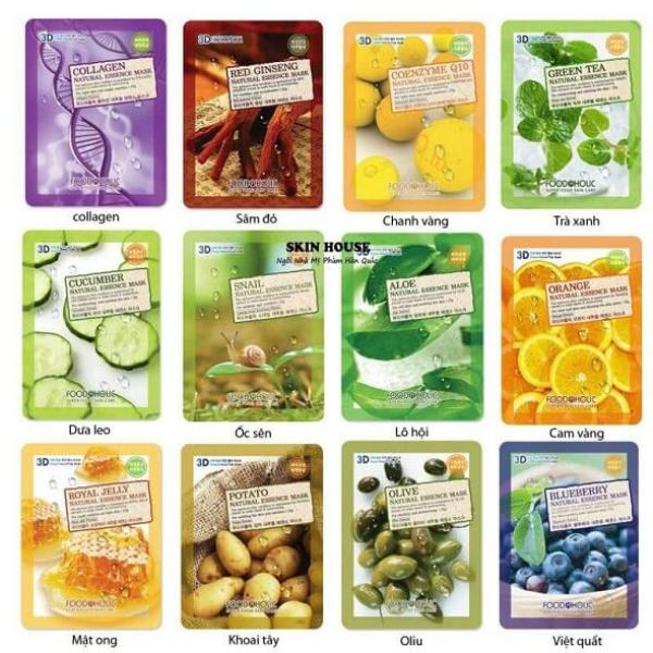[HCM]10 Mặt Nạ 3D Foodaholic Natural Essence