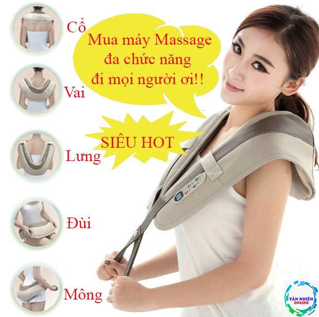 Máy massage đa năng CAO CẤP toàn thân tiện dụng mọi lúc mọi nơi mát xa cổ vai gáy