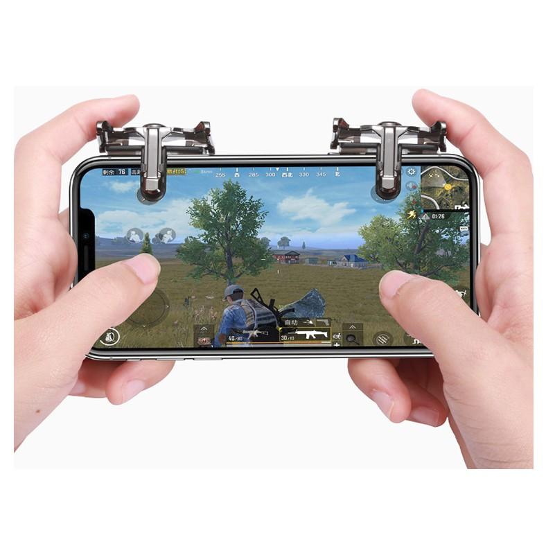 Bộ 2 Nút Bấm Cơ K10 Hỗ Trợ Chơi Game PUBG Mobile Ros Mobile