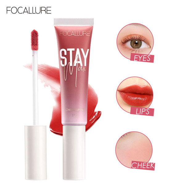 Focallure STAYMAX Moisturizing Lipgloss Can Make Up Lips And Cheeks 10g