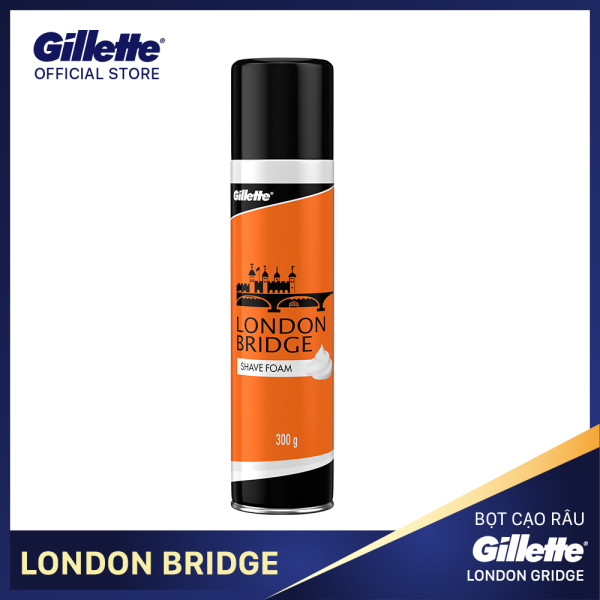 [18-25 Tặng Balo Gillette đơn từ 279k] Bọt cạo râu Gillette London Bridge 300g giá rẻ