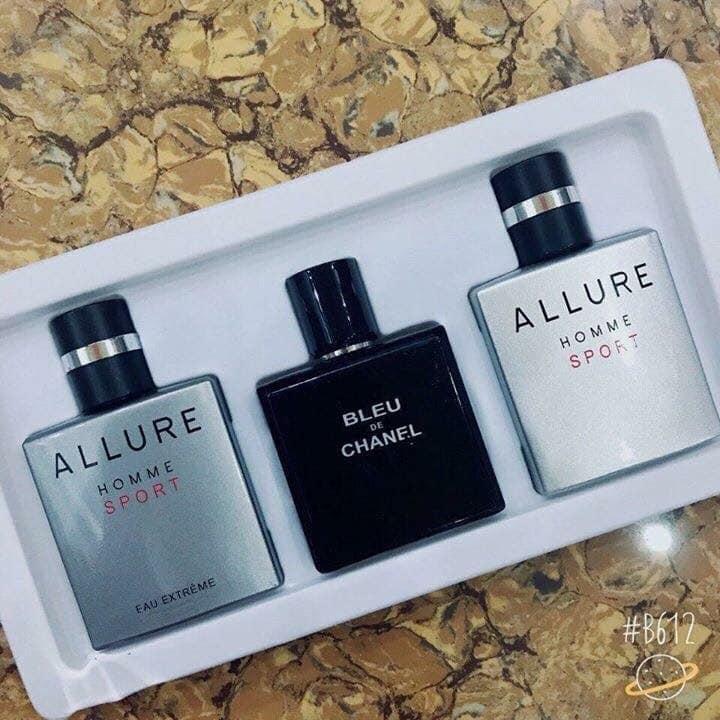 Set 3 chai nước hoa Nam Bleu và Allure 25ml nhập khẩu