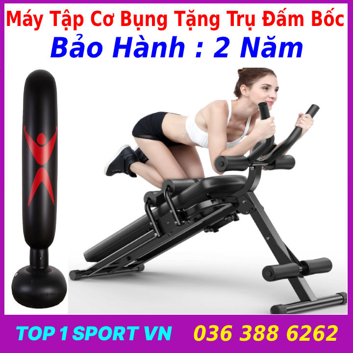 Ghế máy trượt tập cơ bụng đa năng 4.0 AB MIKING -Tặng trụ đấm bốc, Thế hệ ghế máy tập cơ bụng gọn nhẹ, ưu việt dành cho nam và nữ