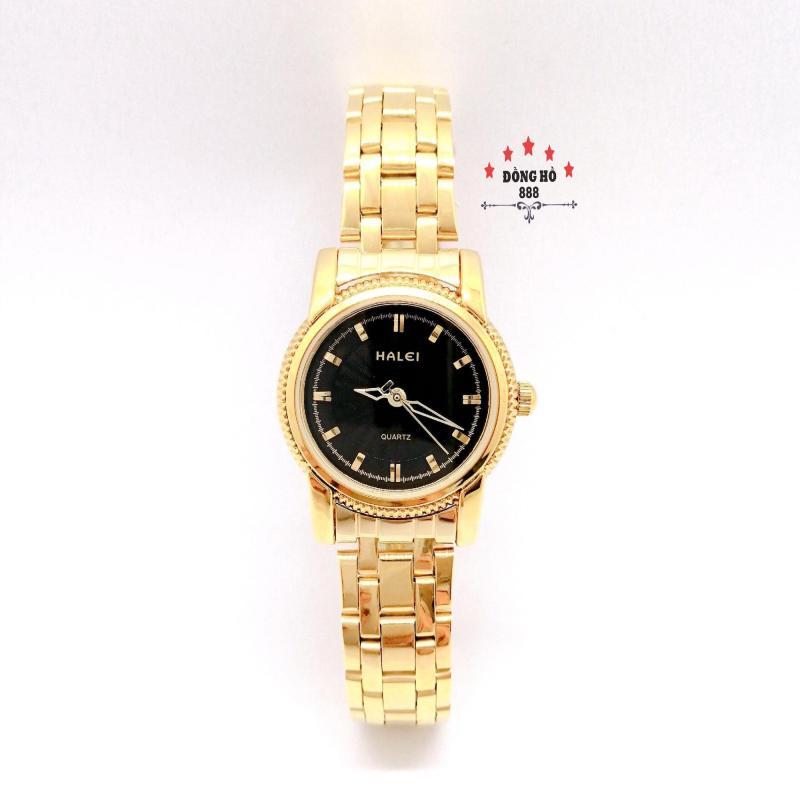 Đồng hồ nữ HALEI dây kim loại thời thượng ( HL501 dây vàng mặt đen ) - Kính Chống Xước, Chống Nước Tuyệt Đối, Mạ PVD Cao Cấp Chống Gỉ Chống Phai Màu Thời Trang Hottrend 2020