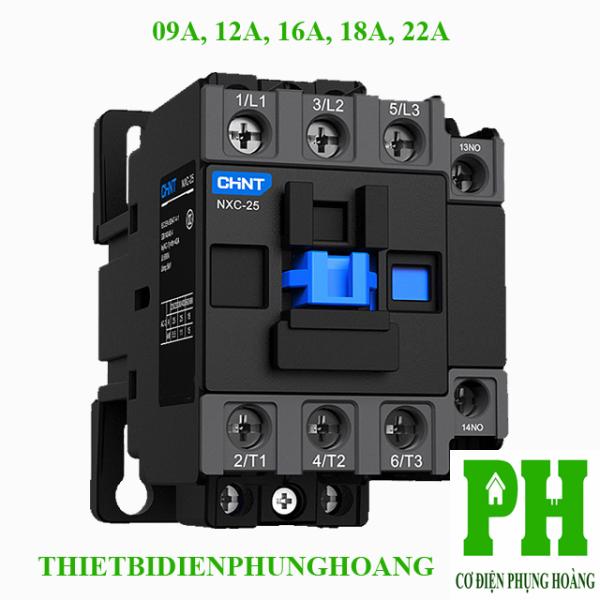Contactor Khởi Động Từ 09A-12A-16A-18A-22A - 3 Pha loại NXC CHINT