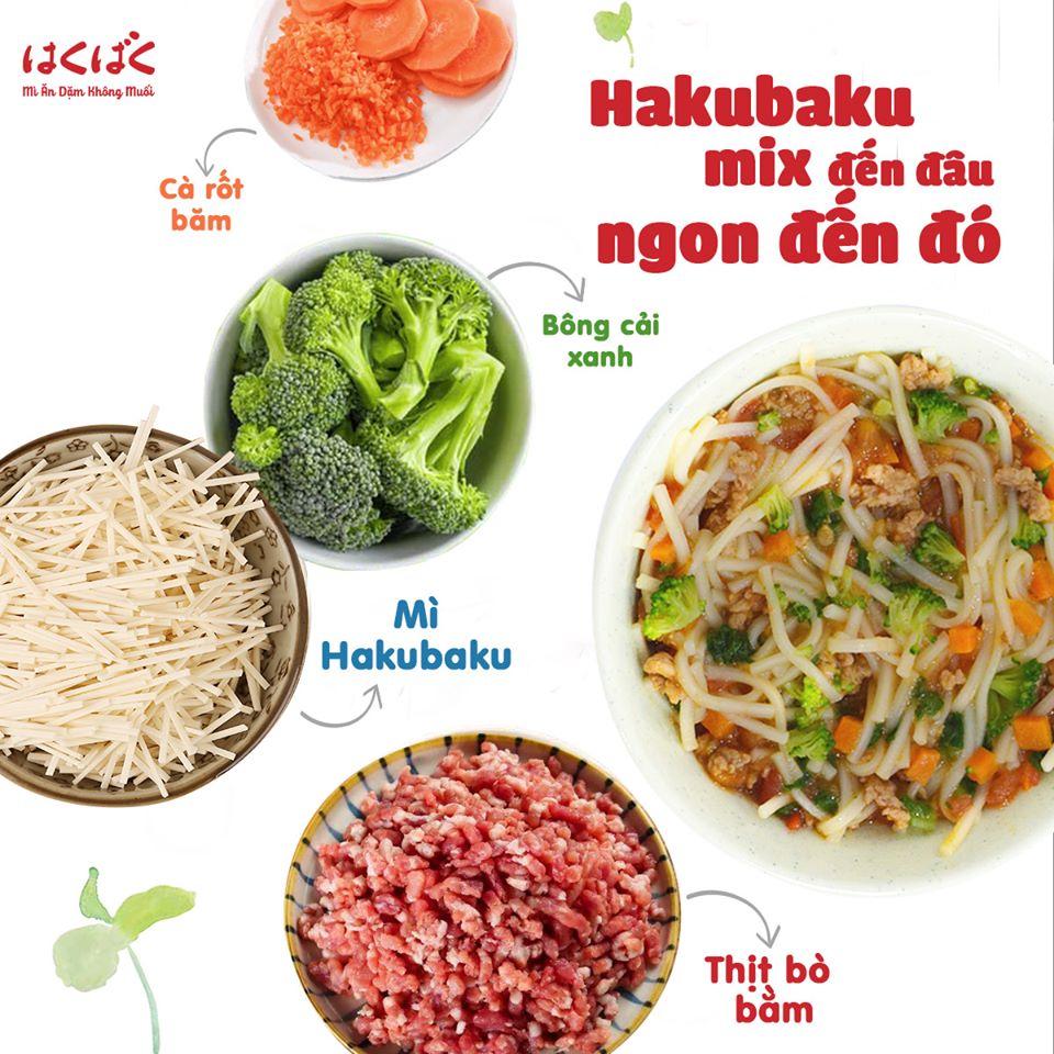 Tặng 10 chiếc xe trớn ] Combo 3 gói mì ăn dặm Hakubaku Baby Udon cho bé từ  7 tháng