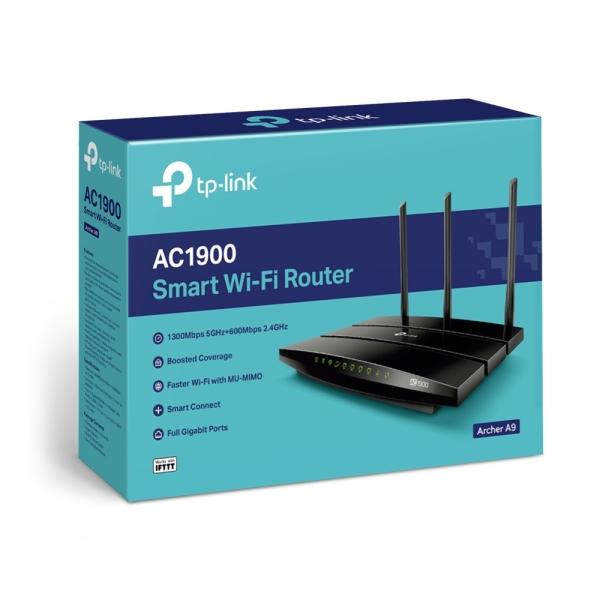 Bảng giá Bộ Phát Wifi MU-MIMO Tp-Link Archer A9 Hiệu Suất Mạnh Mẽ Chuẩn AC Tốc Độ 1900Mbps - Hàng Chính Hãng Phong Vũ