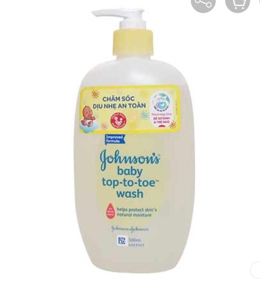 Tắm Gội Johnson Baby Top To Toe 500ml Giá Ưu Đãi Không Thể Bỏ Lỡ
