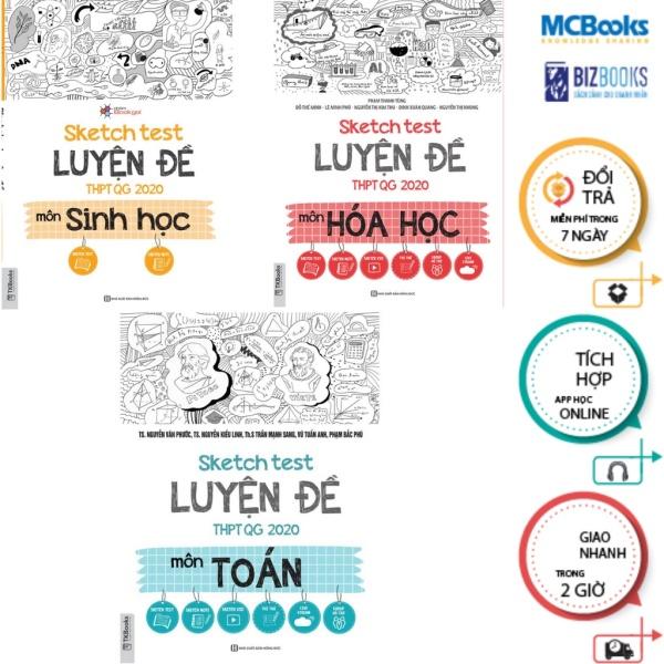 Combo Sketch Test Luyện Đề THPTQG 2020 Môn Hóa Học - Toán - Sinh Học