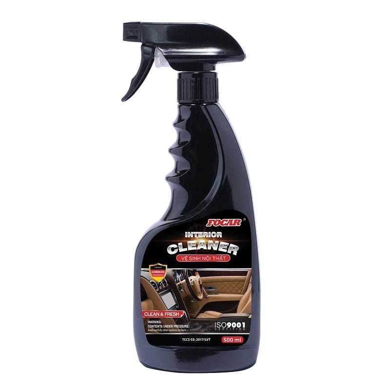[Siêu sạch] Dung dịch vệ sinh nội thất ô tô chuyên dụng Focar Interior cleaner 0,5L - Vệ sinh ghế da, vệ sinh xe hơi, tẩy rửa nội thất ô tô, vệ sinh ghế nỉ, vệ sinh trong xe, vệ sinh - Hàng có sẵn