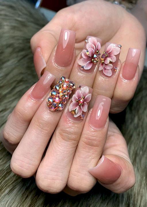Hoa nổi 4D ,Fantasy HN0010 set 3 hoa theo hình . Sản phẩm trang trí móng , vẽ nổi, Nail desige , hoa vẽ nổi, Hoa dễ bẻ from móng(hàng vẽ tay không đổ khuôn ) tốt nhất