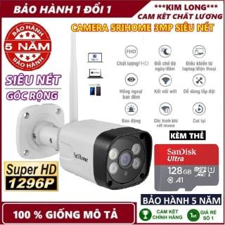 Kèm thẻ 128 Yoosee-Camera wifi Srihome SH035 3.0MP 1269 Pixel FullColor - Xem Đêm Có Màu - Vỏ Kim Loại thumbnail