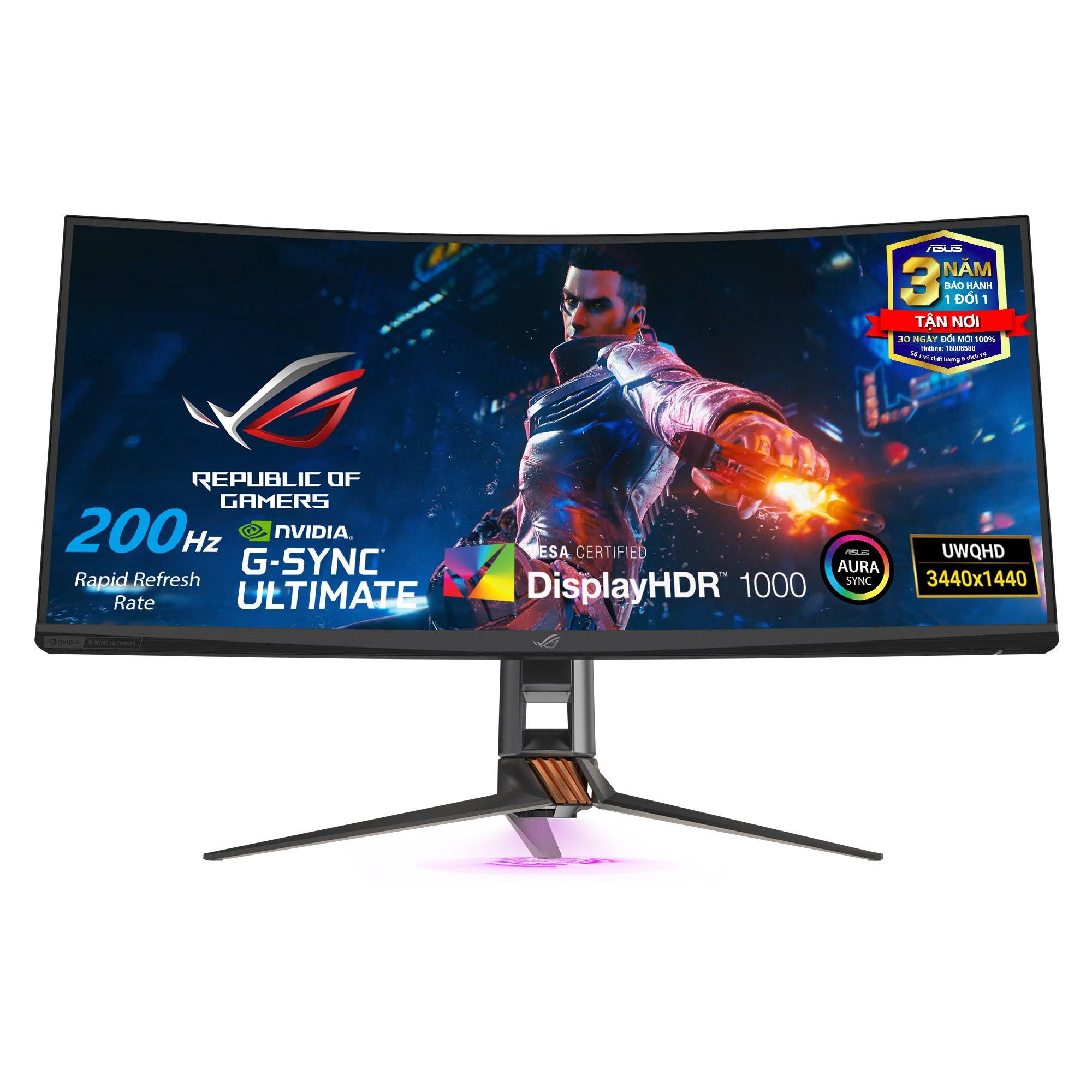Giá Màn hình Game Cong ASUS ROG Swift PG35VQ - 35  Ultra-WQHD 21:9, 200Hz, 1000 nit, HDR, G-Sync Ultimate, DCI-P3 90%, Aura Sync - PG Series Monitor