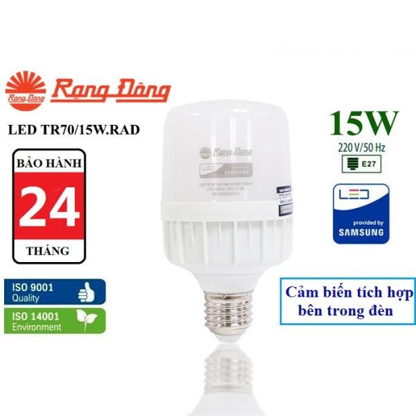 Bóng đèn LED BULB cảm biến 15W Rạng Đông (TR70.RAD/15W)