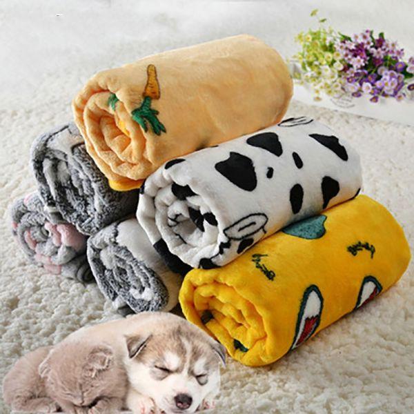 YINLMALL Mềm Dễ thương Sưởi ấm Đặc In Flannel Thoải mái Chăn nuôi thú cưng Đồ dùng cho thú cưng ấm áp Doggy Mat Thảm ngủ cho thú cưng