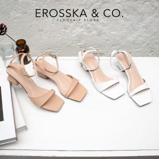 Giày sandal cao gót Erosska mũi vuông phối dây mảnh quai mảnh cao 3cm EB032 thumbnail