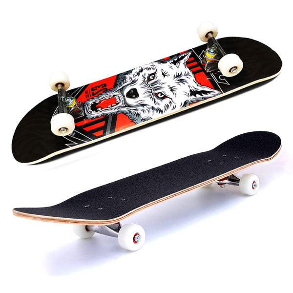 Giá bán Ván trượt Skateboard mặt nhám 7 lớp gỗ Phong , bánh cao su ( Đạt chuẩn thi đấu) cao cấp