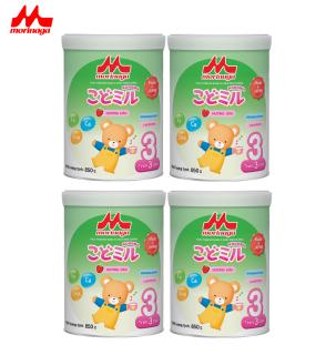 Combo 4 hộp Sữa Morinaga Số 3 Kodomil Cho Bé Từ 3 Tuổi - Hương Dâu 850gr - HSD T12 2021 (không đai đổi quà) thumbnail